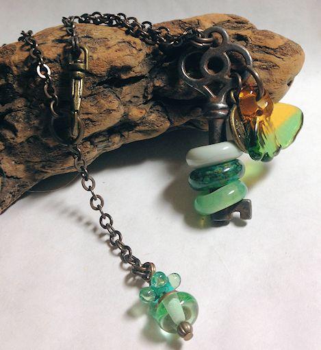 SkeletonKeyNecklace-Green
