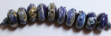 PurpleLapis-SilveredIvoryBeadSet