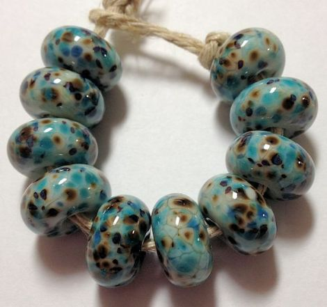 Blue-BrownFritBeads
