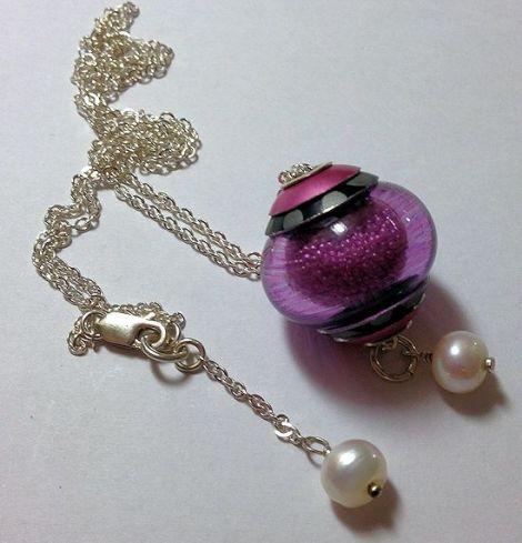 PinkMicrobeadsNecklace