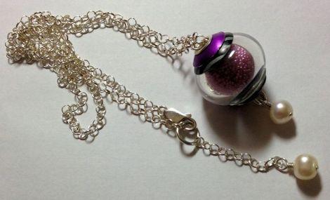 PinkMicrobeadNecklace