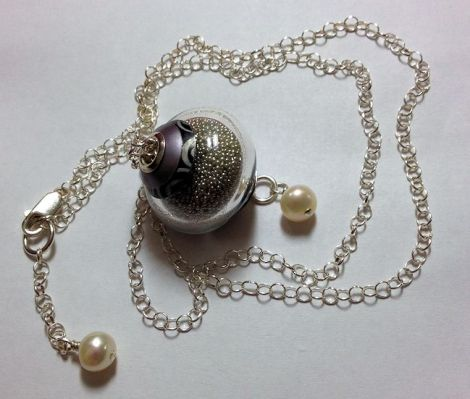 SilverMicrobeadNecklace