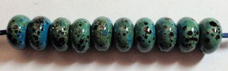 TurquoiseSilverFritBeads
